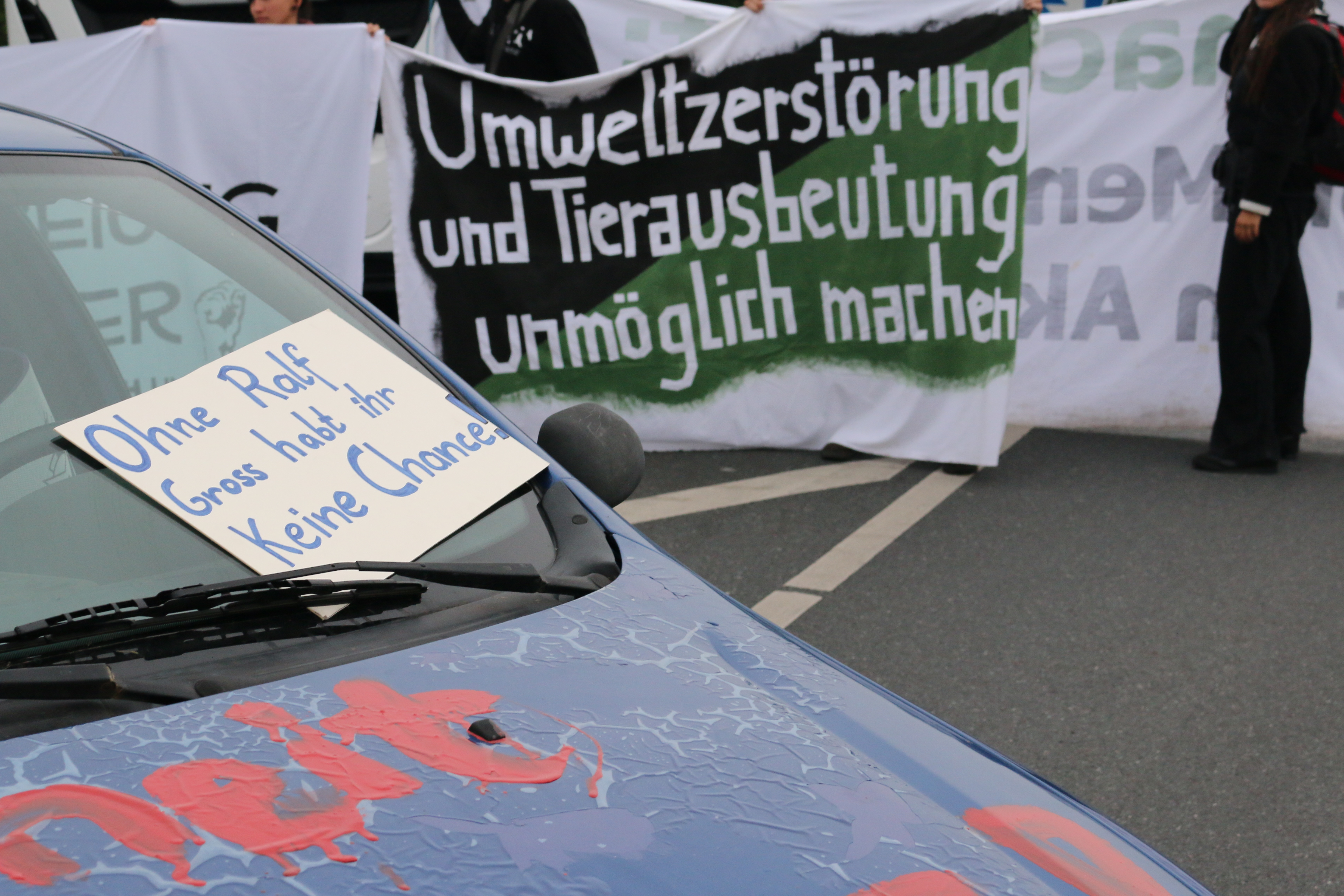 Foto des Blockade-Autos